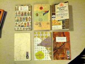 Some Moleskine cahiers whose covers I've decorated