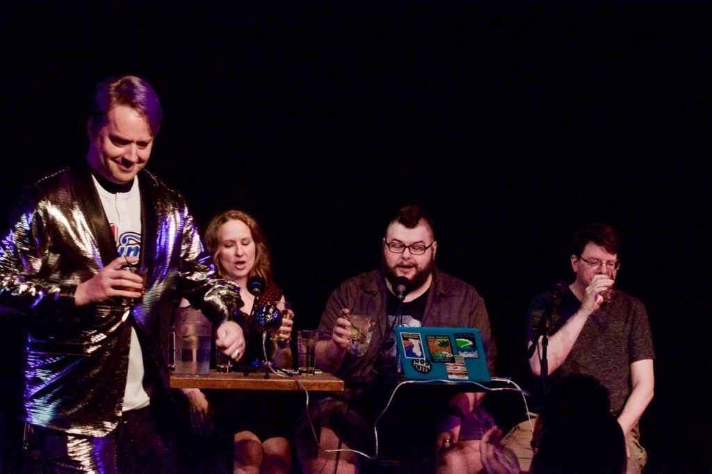 Jeremy Stomberg made it to our 200th episode! Take a drink! Photo by Bob Alberti
